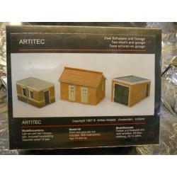 ** Artitec 10116  2 Brick Sheds and Garage Model Kit
