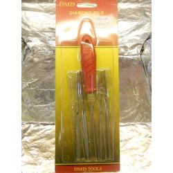 ** Tasma 075013 Diamond File Handle Set-3mm x 140mm (5 pieces)