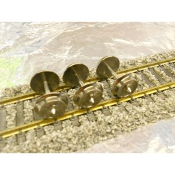 ** Fleischmann 6560 1 x Exchange Wheel Set to convert 2 - 3 Axled Fleischmann wagons to 3-Rail