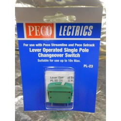 ** Peco PL-23 Single Pole Changeover Switch Green Colour