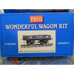 ** Peco W605 GWR 8 Ton Permanent Way Steel Type Open Wagon (O Gauge Kit)