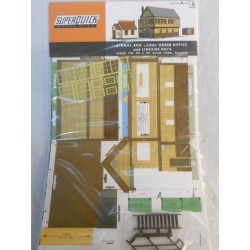 ** SuperQuick A6 Signal Box, Coal Order Office, and Lineside Huts Card Kit