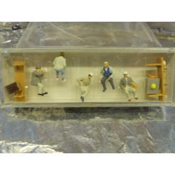 ** Preiser 10338 HO Scale Construction Workers Having a Break (5)