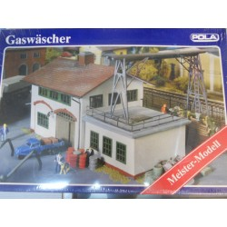 ** Pola 857 Gas Washer Building with Crane (Meister Modell) with Aged Sections