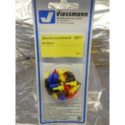 ** Viessmann 6831 Plugs (40) in 4 Colours