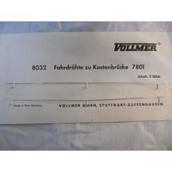 ** Vollmer 8032 2 x Wires For Vollmer Bridge 7801