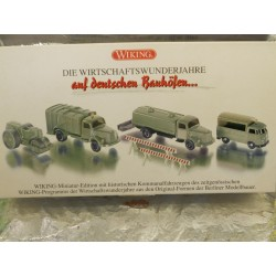 ** Wiking 9905552 Set of Four Historical Municipal Vehicles from Economic Miracle Years