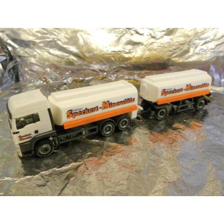 ** Herpa 147774 MAN TGA LX Fuel Tank Trailer Speckert
