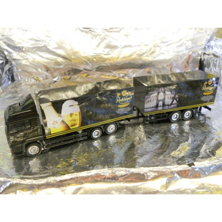 ** Herpa 148719 MAN TGA XXL Beverage Box Tandem Axle Trailer Radeberger