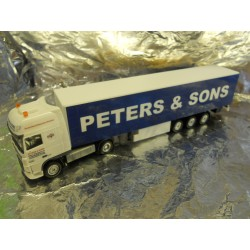 ** Herpa 288576 DAF XF 105 SSC Curtain Canvas Semitrailer Peters & Sons
