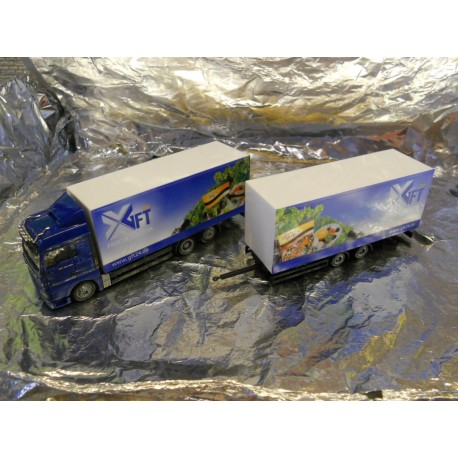 "** Herpa 299954  MAN TSX XLX Box Trailer,  "" GFT ""."