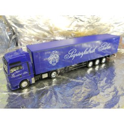 "** Herpa 298650  MAN XXL Curtain Canvas Semi-trailer  "" Palm ""."