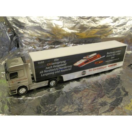 ** Herpa 149044 Mercedes Benz Actros LH Safeliner Semitrailer Frisiaket