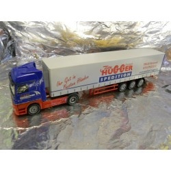 "** Herpa 270946 Mercedes Benz Actros LH '02 Curtain Canvas Semitrailer ""Hugger"""