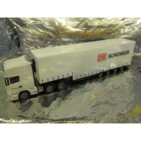 """** Herpa 303323  Scania R Topline Volume Semitrailer """"DB Schenker""""."""