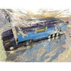 """** Herpa 268196 Mercedes Benz Actros LH '02 box semitrailer """"Hazet"""""""