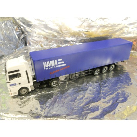 ** Herpa 275705 MAN TGA XXL Curtain Canvas Semitrailer HAMA