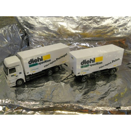 ** Herpa 278423 Mercedes Benz Actros L Interchangeable Box Trailer Diehl