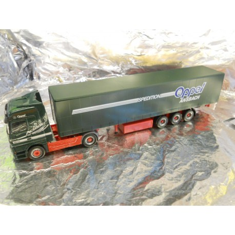 ** Herpa 146685 Mercedes Benz Actros LH Curtain Canvas Semitrailer Oppel Ansbach