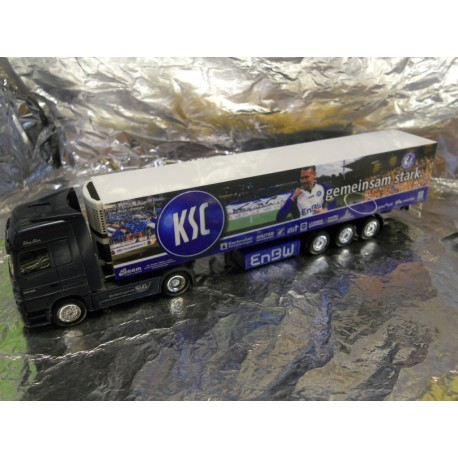 "** Herpa 275392 Mercedes Benz Actros LH '02 Refrigerated Box Semitrailer ""Baam / KSC"""