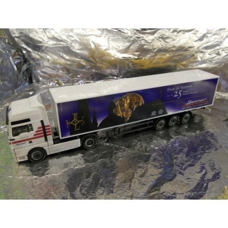 ** Herpa 271158 MAN TGA XXL Box Semitrailer Hammer / Aachen