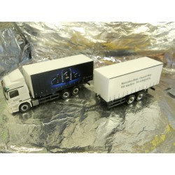 "** Herpa 294560  Mercedes-Benz Actros L Curtain Canvas Trailer ""CharterWay"""