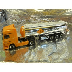 "** Herpa 902120  MB Actros LH MP3 Tank Semi-Trailer,  "" Feldbinder ""."