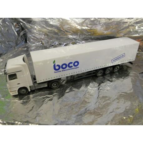 "** Herpa 268288 Mercedes Benz Actros LH Box Semitrailer ""HTS / boco"""