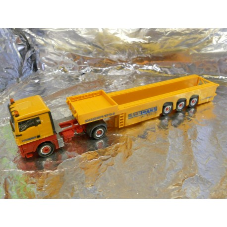 "** Herpa 156240 MAN TGX XL Cement-Part Transporter Langendorf ""Bautrans"" (A)"