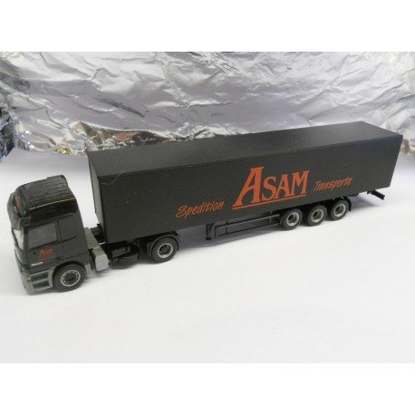 ** Herpa 146074 Mercedes-Benz Actros L Curtain Canvas Semitrailer ASAM