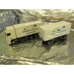 ** Herpa 149600 DAF XF SSC Interchangeable Box Trailer Birkart