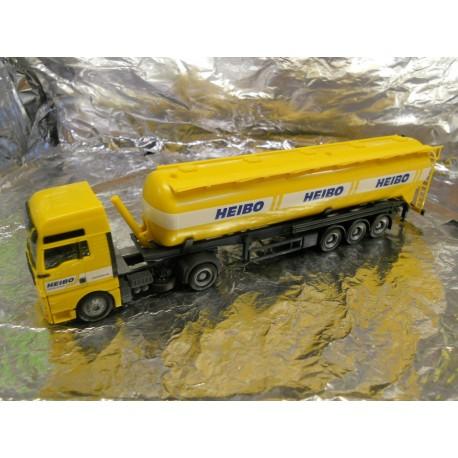 "** Herpa 148054 MAN TGA XXL Silo Semitrailer 60m³ ""Heibo"""