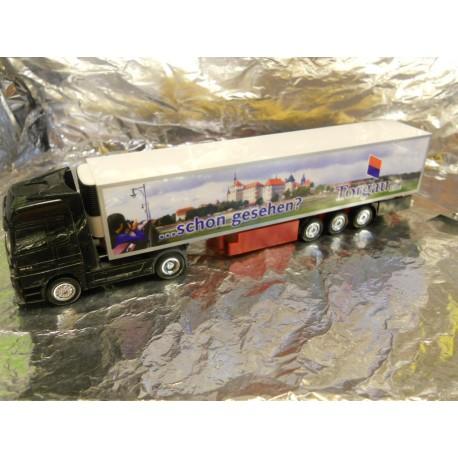 """** Herpa 152235 Mercedes Benz Actros LH 02 refrigerated box semitrailer """"Kraftverkehr Torgau"""""""