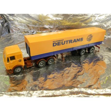 "** Herpa 150279  Mercedes Benz Canvas Semitrailer,  "" Deutrans ""."