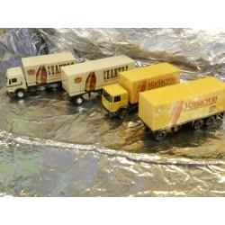 ** Herpa 153836 Eckes Model Set Of Two Lorrys Chantré/Mariacron