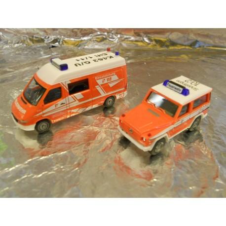 """** Herpa 273930 Two Vehicle Set """"Sindelfingen Firefighting Department"""""""