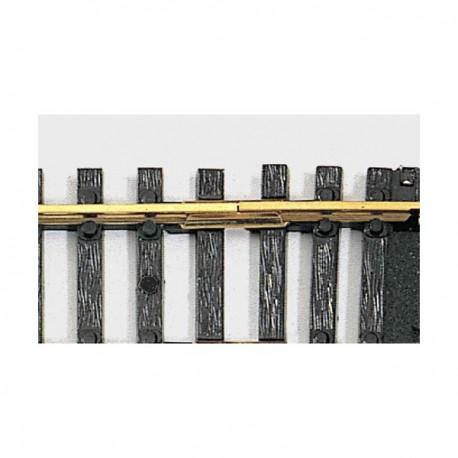 ** Fleischmann 6404 00 / HO Metal Rail Joiners Brass