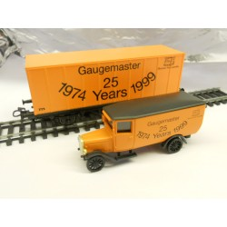 ** Marklin M00012 Gaugemaster 25 Years 1974 -1999 Wagon+Lorry Set