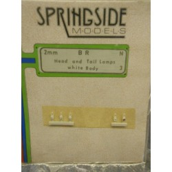 ** Springside Models S0001 BR Head & Tail Lamps White Body N Scale