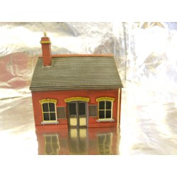 ** Scenix PKEM6111 Ticket Office Building with AD Posters  Red Brick