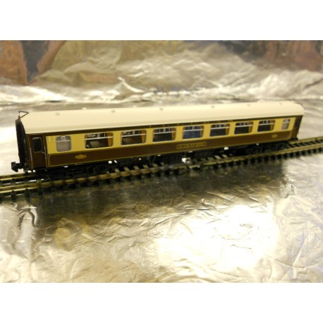 Graham Farish 374210E N Scale BR MK1 SP Pullman Second Parlour Car 353 Umber & Cream