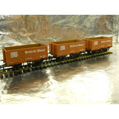 ** Golden Valley Hobbies GV6013 3 - Pack BSC  7 Plank Open Mineral Wagon.