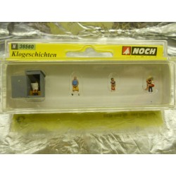 ** Noch 36560 Figure Set Toilet Stories 1:160 N Scale