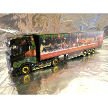 """** Herpa 307789 Scania CS 20 HD Box Semitrailer """"Herpa Christmas Truck 2017"""""""