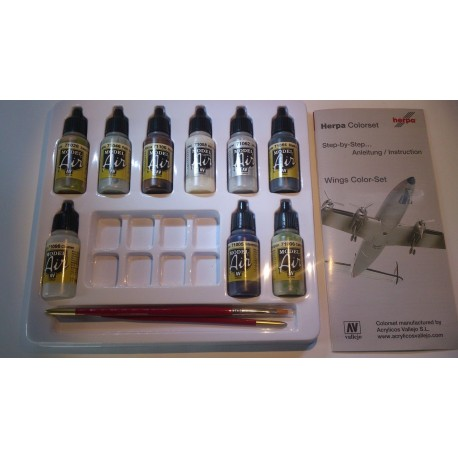 ** Herpa 371025 Herpa Weathering Color Set Wings