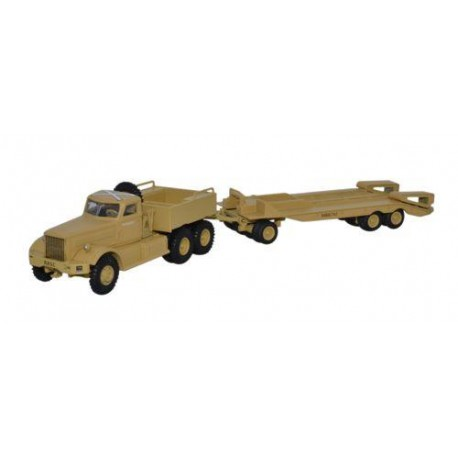 * Oxford Diecast 76DT001 Diamond T980 Tank Transporter TRC Western Desert 1942