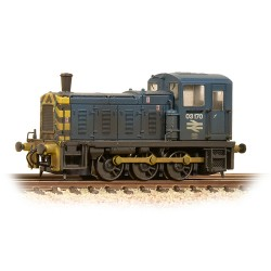 ** Graham Farish 371-064 Class 03 03170 BR Blue Wasp Stripes & Air Tanks Weathered