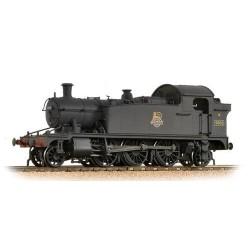 ** Bachmann 32-137A Class 4575 Prairie Tank 4592 BR Plain Black E/Emblem - Weathered