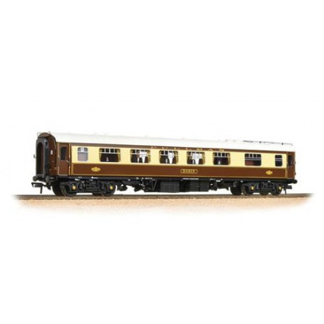 ** Bachmann 39-282 x 2 BR Mk1 FK Pullman First Kitchen Umber & Cream 'Robin' - White Roof (With Lighting)