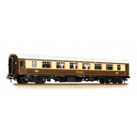 ** Bachmann 39-292 x 2 BR Mk1 FP Pullman First Parlour Umber & Cream 'Pearl' - White Roof (With Lighting)